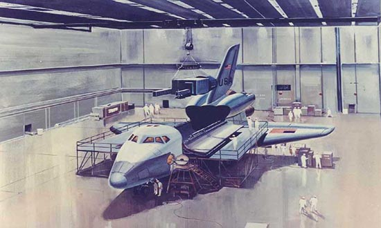 Early Space Shuttle artwork