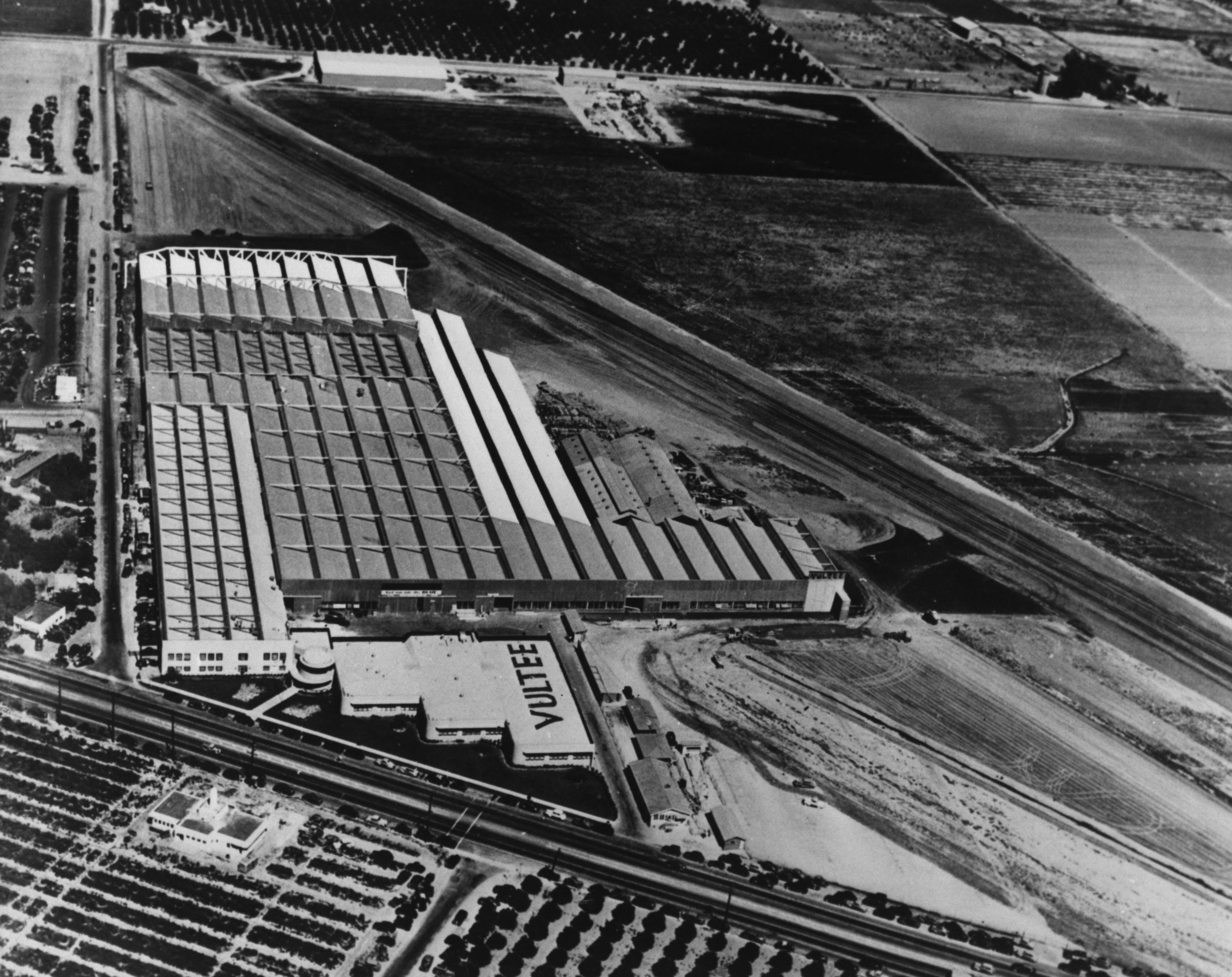 Vultee Aircraft Plant in Downey, CA