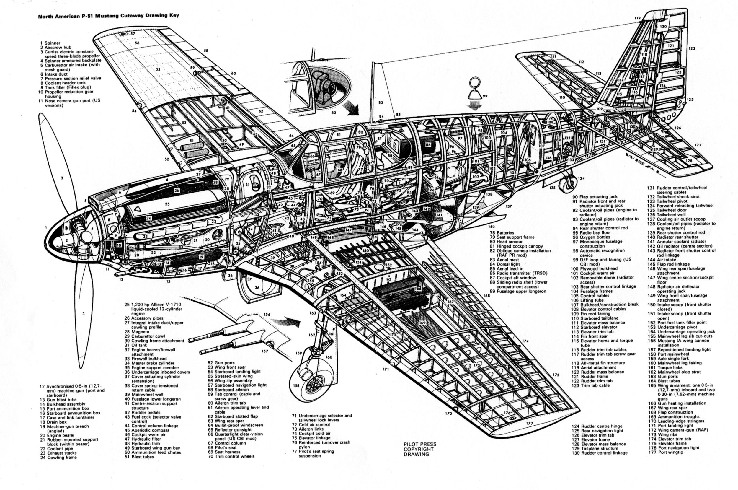 NAA P-51 Cutaway Early Mark