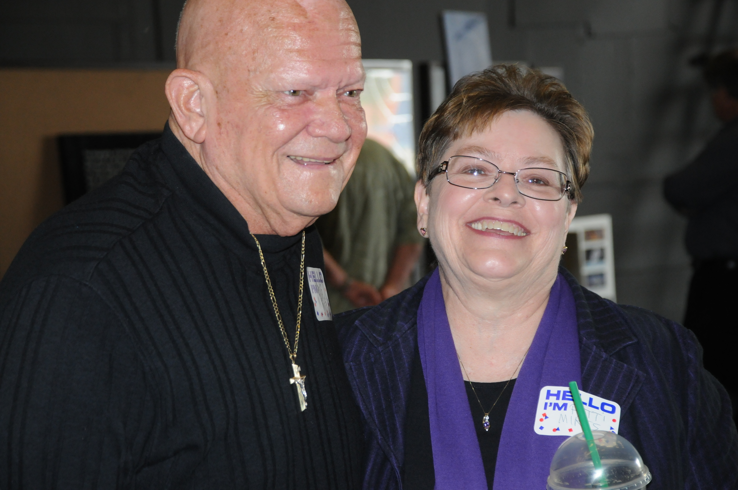Mr. and Mrs. Bob Miers and his wife at Apollo 13 event