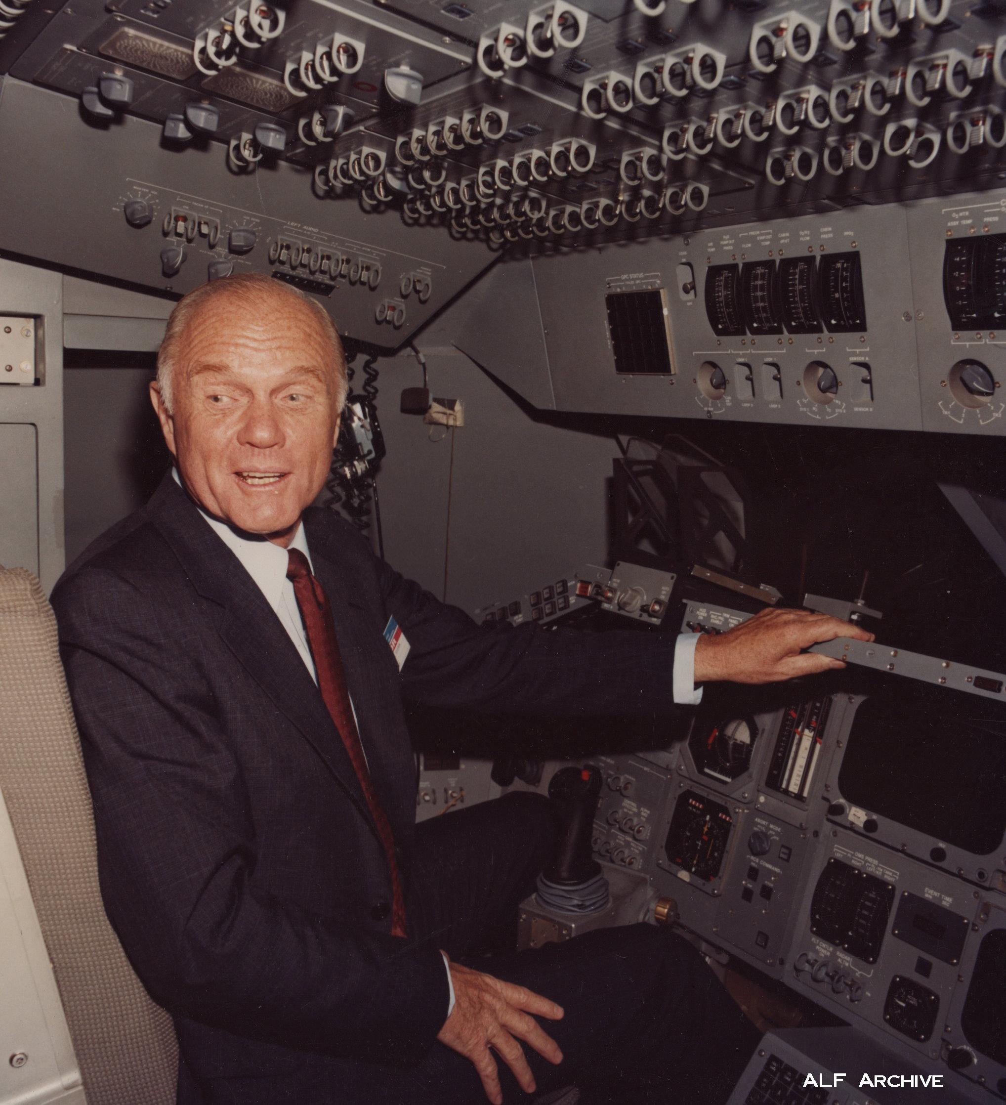 Astronaut John Glenn visit Downey plant