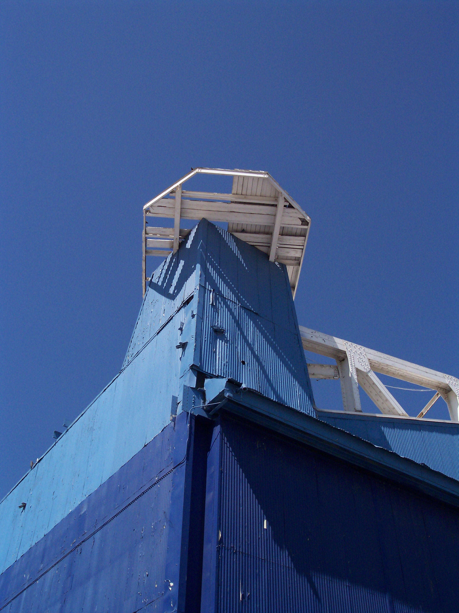 Building 1 and former tower perch- Photo- Larry Latimer