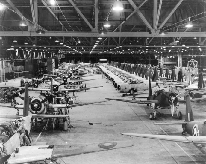 Vultee Aircraft assembly line