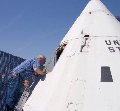 Apollo Boilerplate arrives at Downey Studios. - Photo- Larry Latimer