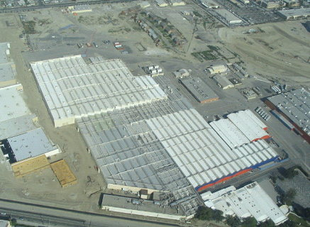 Aerial view of Downey Studios