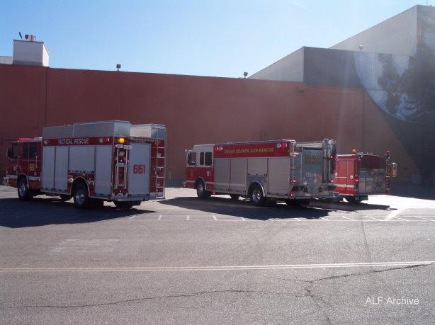 Downey Fire Dept. at Downey Studios- Photo- Larry Latimer