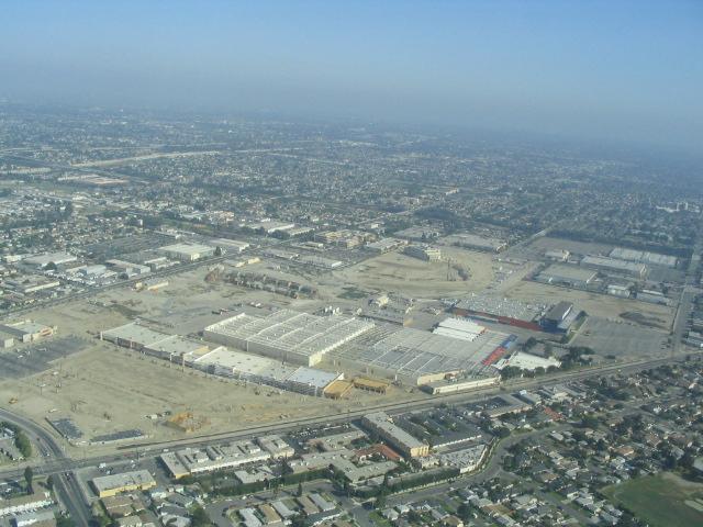 Aerial view of Downey Studios 2005