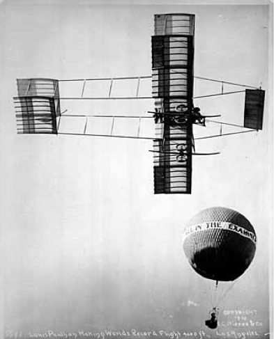 French aviator Louis Paulhan makes record-breaking flight to 4,600 feet in 1910