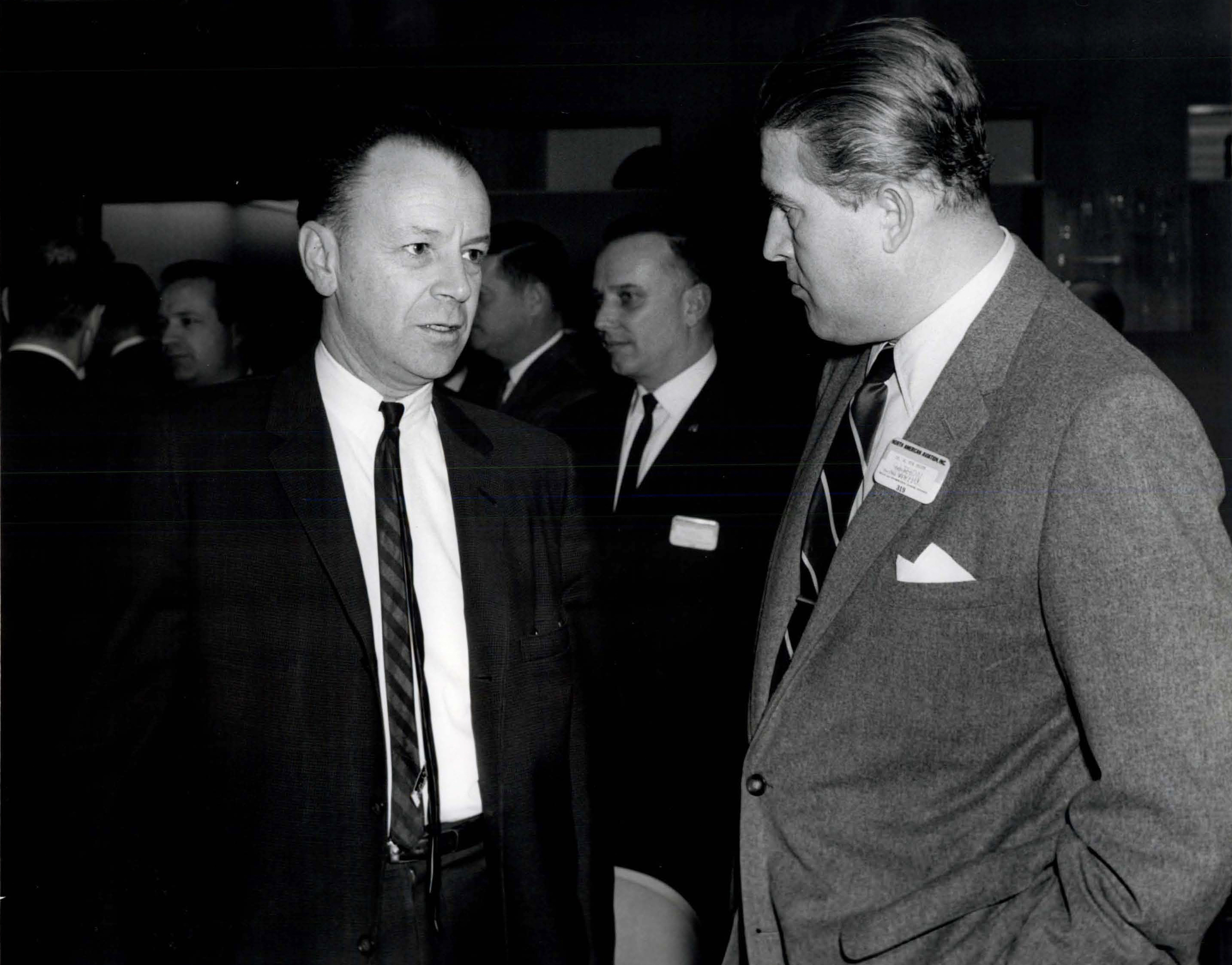 Dr. Harrison Storms and Dr. Wernher Von Braun