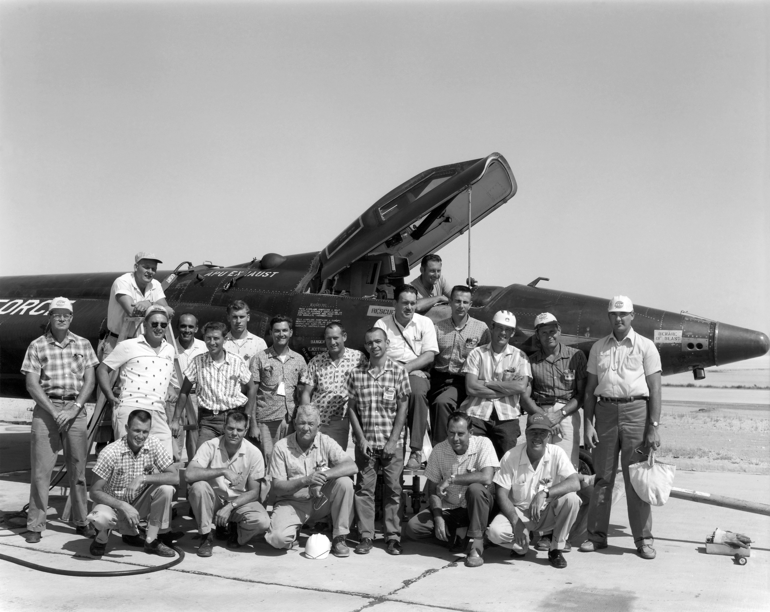 X-15 personnel July 1962. (NASA)