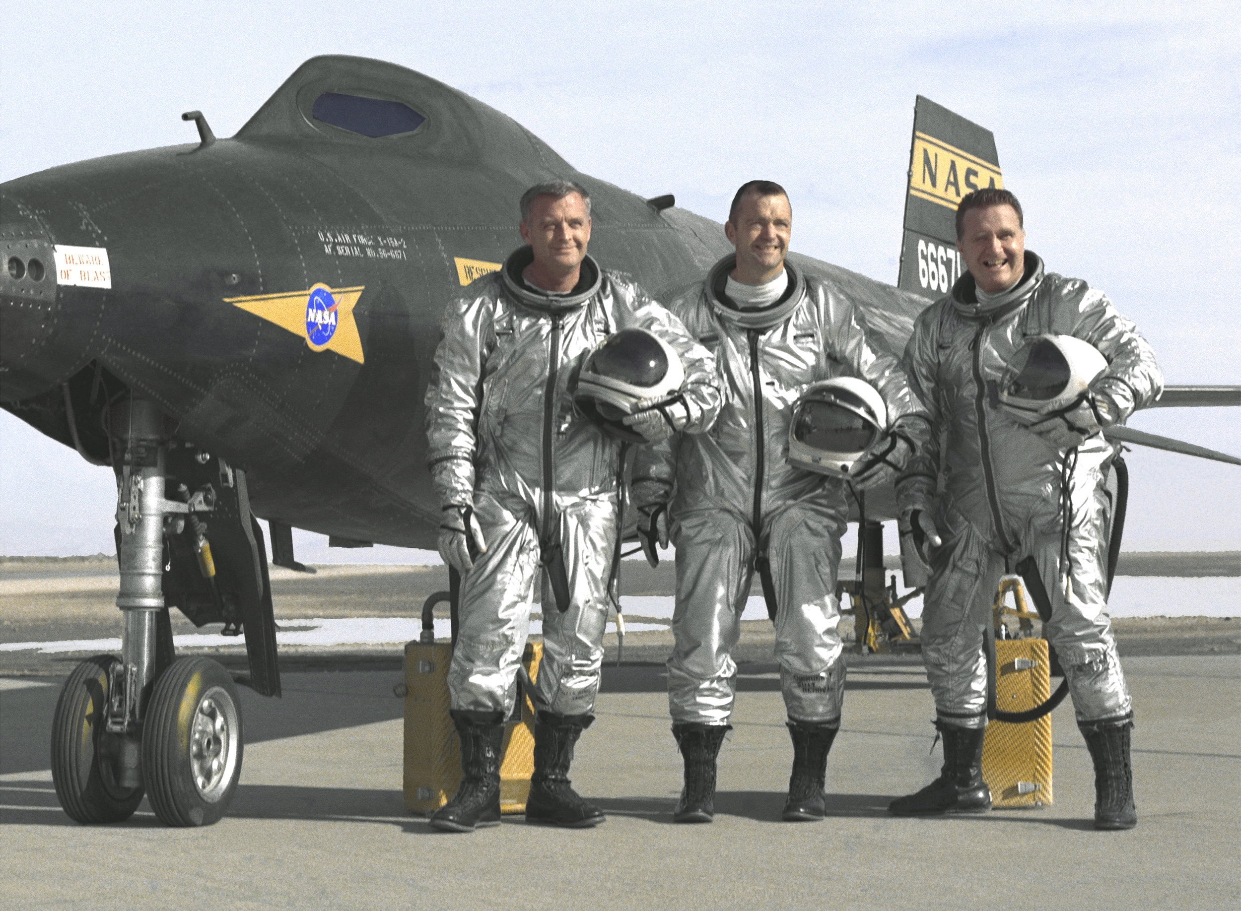 X-15 test pilots-Thompson, Dana, and McKay NASA