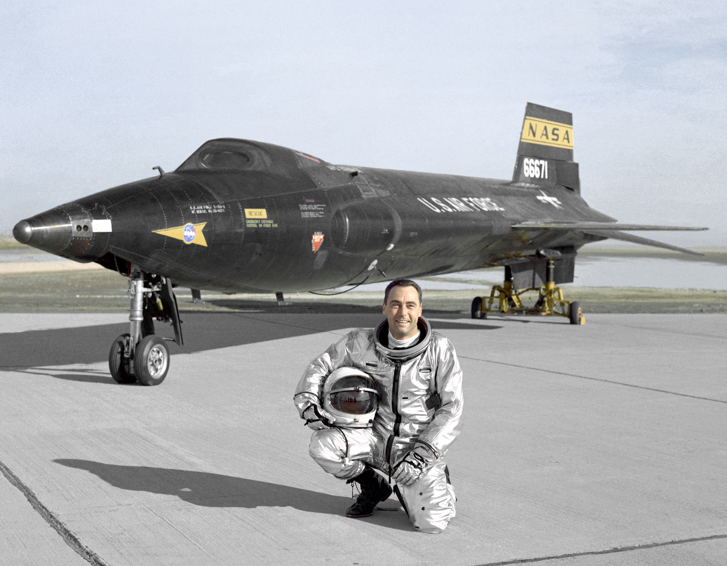 X-15A-2 with test pilot Pete Knight. (NASA)