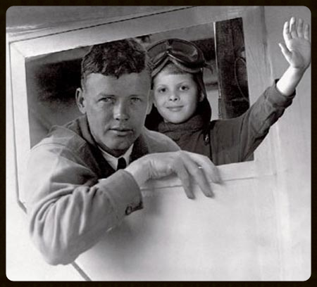 Above- Charles Lindbergh with Anthony
