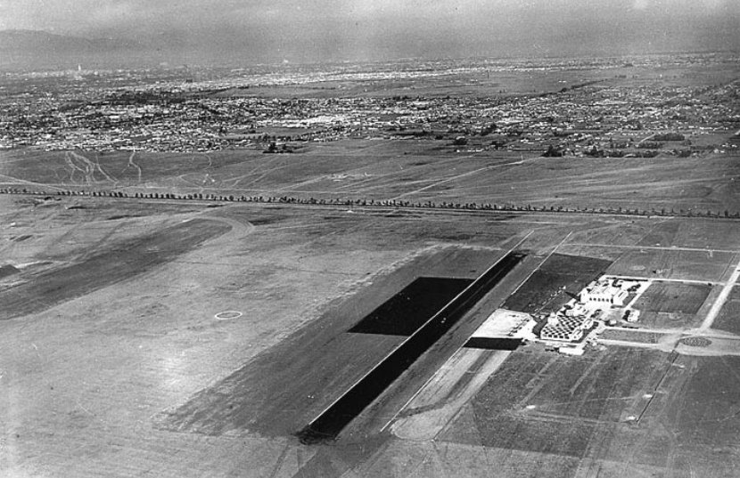 Aerial View of Los Angeles Municipal Airport 1929