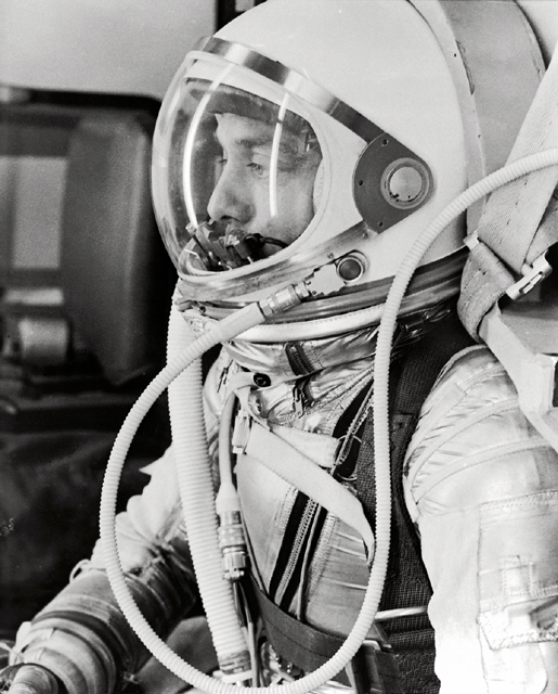 GPN-2000-001023 Alan Shepard in Space Suit before Mercury Launch