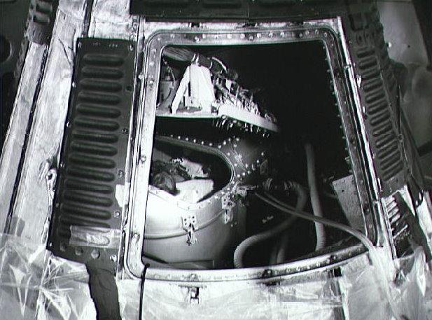Mercury spacecraft and Chimpanzee Ham