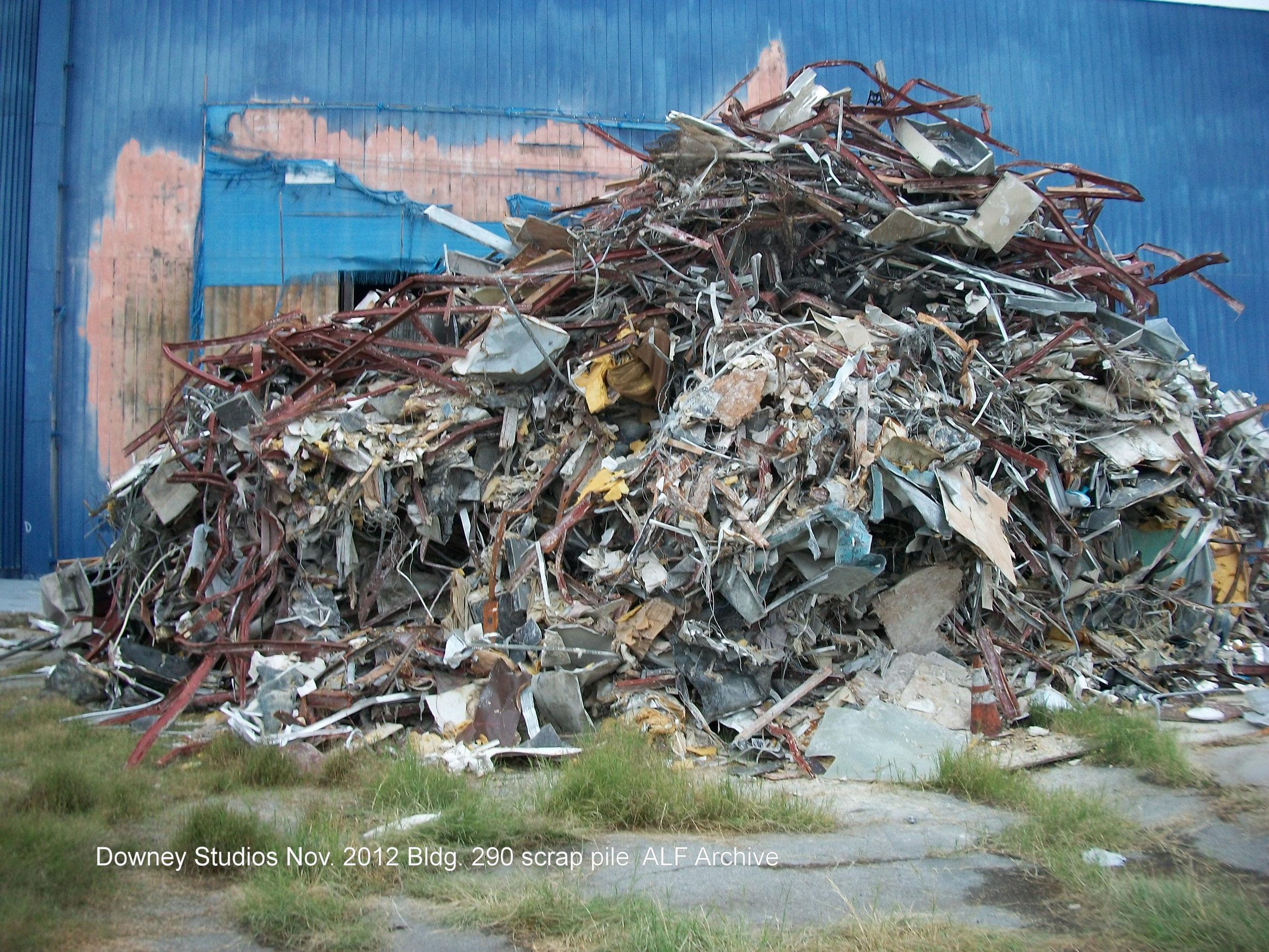 Downey Studios demo Nov. 2012 Photo- Larry Latimer