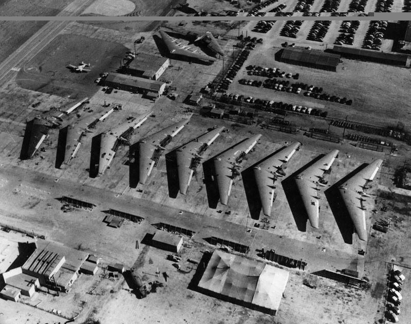 Aerial view of Flying Wing planes