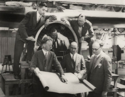 Allan Lockheed, John K. Northrop, Anthony Stadlman and Gerard Vultee