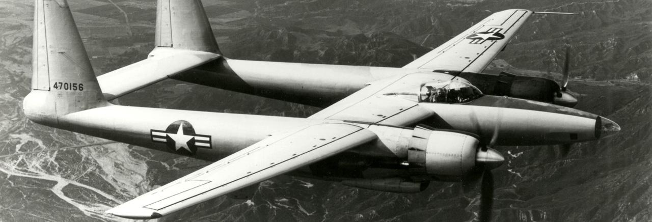 XF-11 in flight