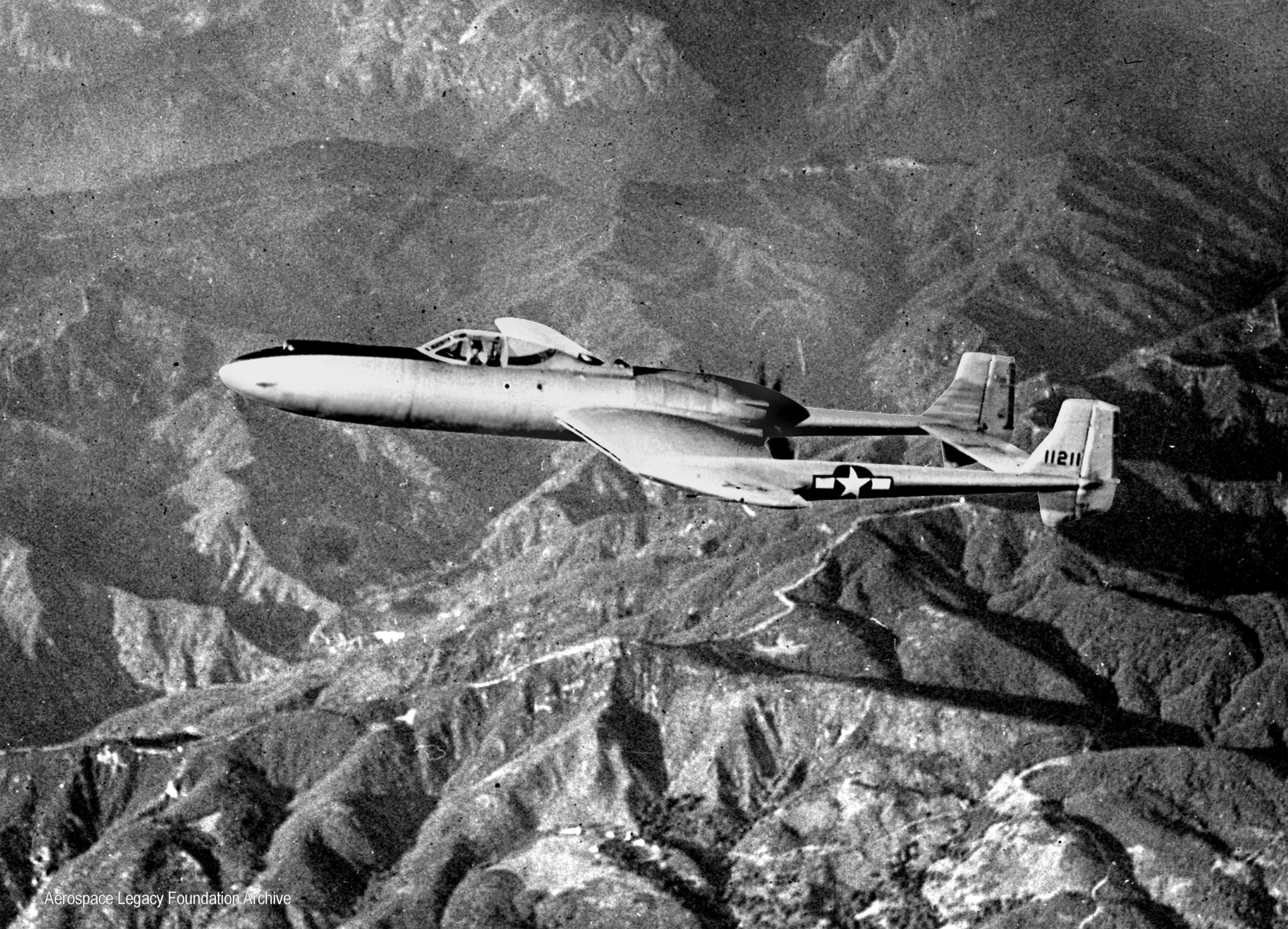 XP-54 in flight