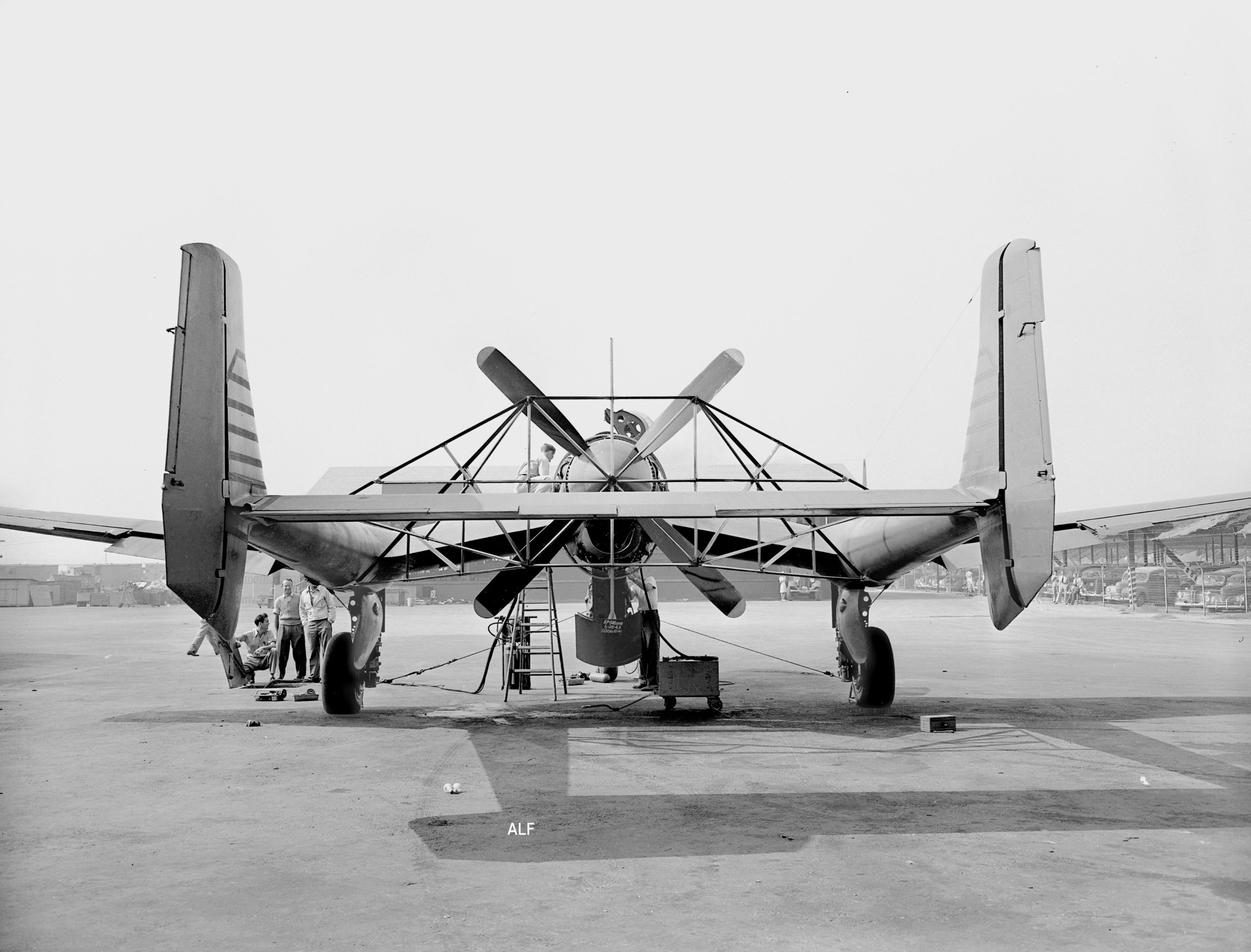 Rear view of Consolidated Vultee XP-54