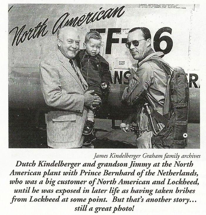 Mr. Kindelberger with grandson Jimmy