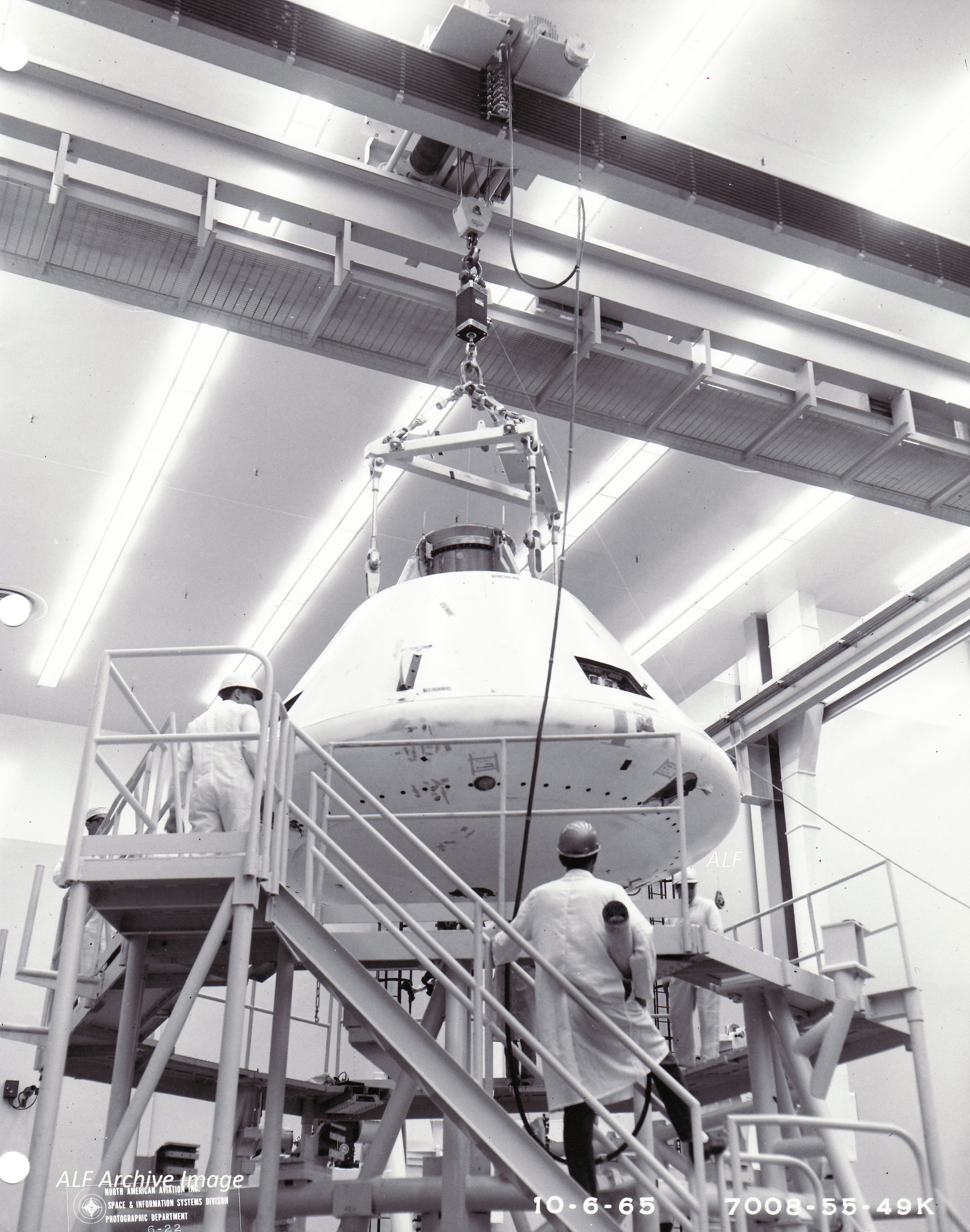 Apollo fabrication and testing at North American Aviation on Downey, California.