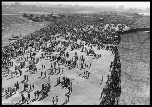 """Above- Vultee """"Family Day"""" 1943 in Downey, Calif."""