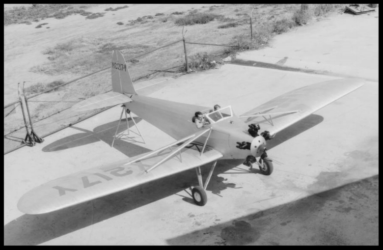 """Above- Security """"Airster"""" at the Downey plant in 1933.  Image- Dick Whittington Studios."""