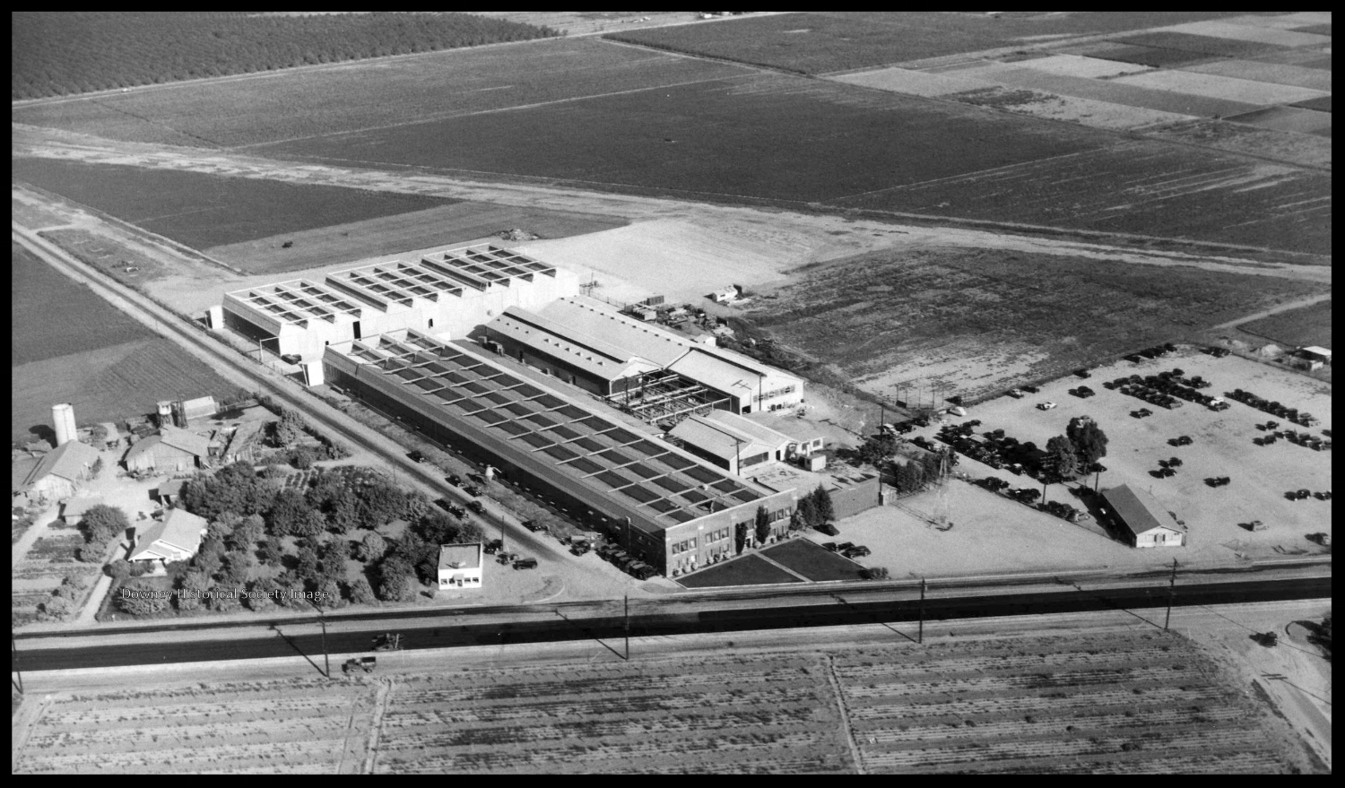 Above- Vultee Field in 1936. Formerly EMSCO Aircraft, Security National Aircraft and Champion Aircraft. Image- Downey Historical Society