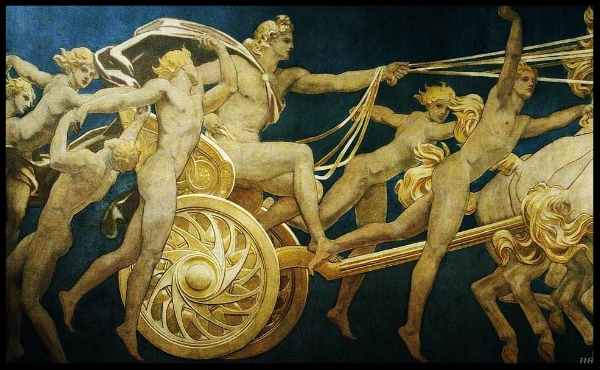 Apollo in his Chariot with the hours. John Singer Sargent.