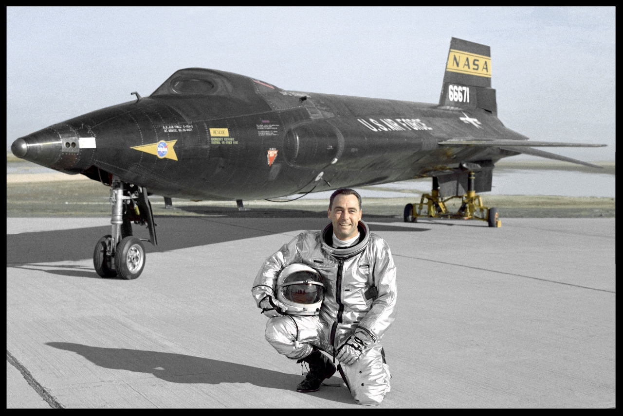 X-15 A-2 with test pilot Pete Knight. (NASA)