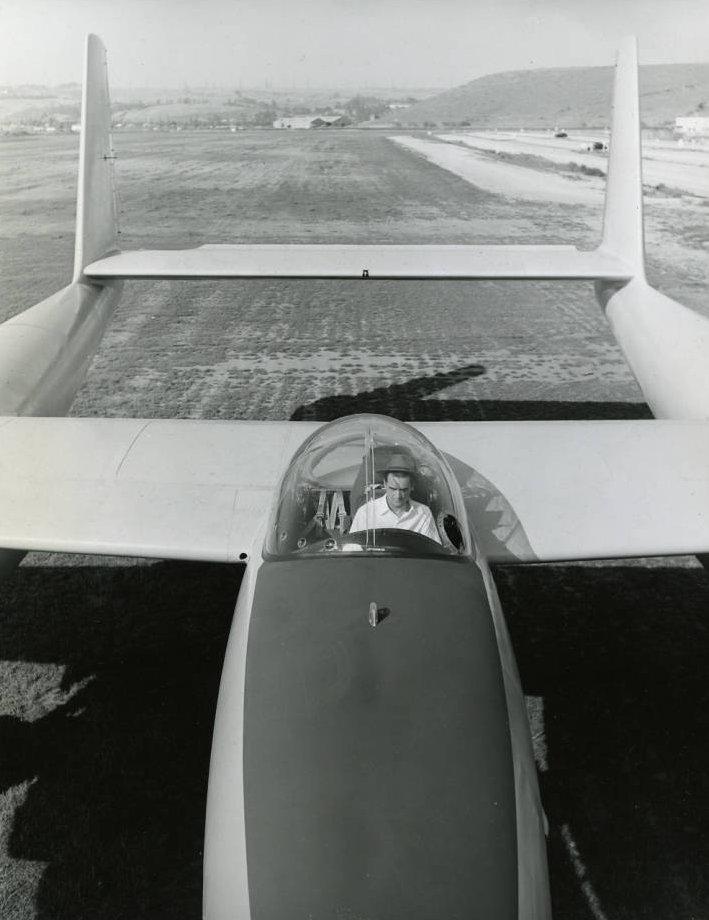 Photograph of Howard Hughes and the XF-11, Culver City, California, July 7, 1946