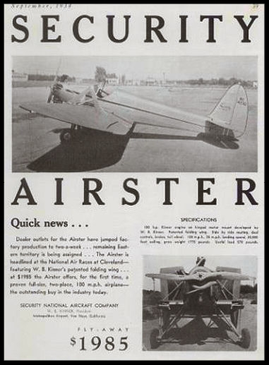 Above- Security Airster for $1985.00