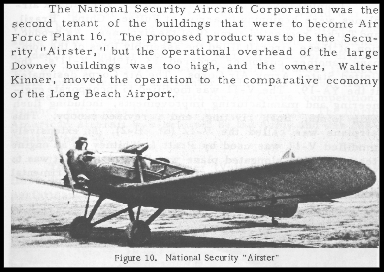 Above- Security National Aircraft Corporation