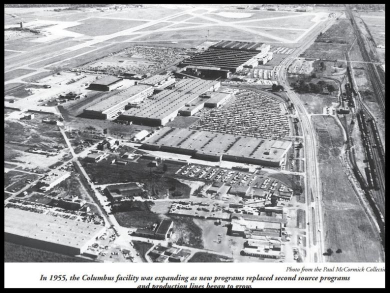 North American Aviation Columbus, Ohio facility. Image- Paul McCormick/ Bald Eagles.   More here-