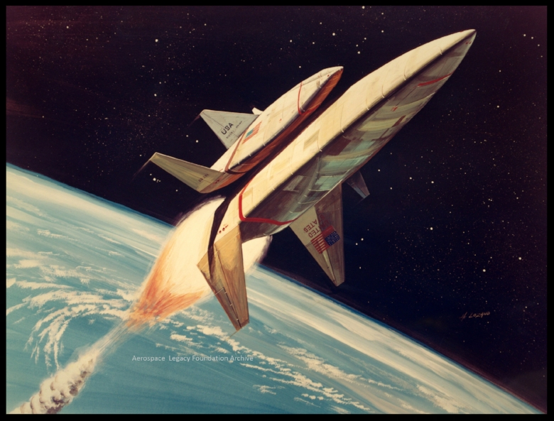 Previously Unseen Space Shuttle Concept Art.  Image- Rockwell/NASA