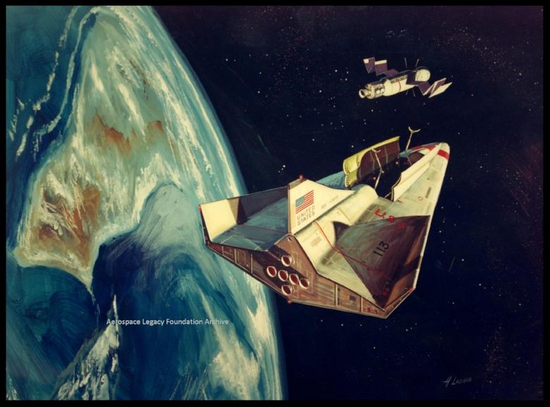 Space Shuttle orbiter concept artwork.  Image- NASA