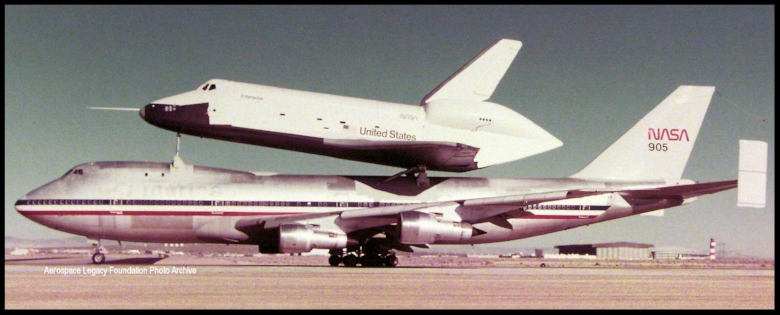 Piggyback! Enterprise and special 747.