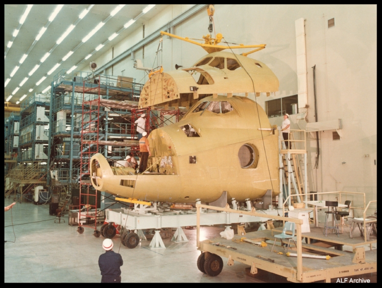 Space Shuttle orbiter work at Rockwell. Image- ALF Archive