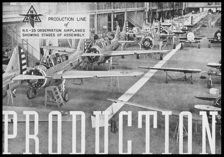 North American Aviation  plant production line in may 1939.