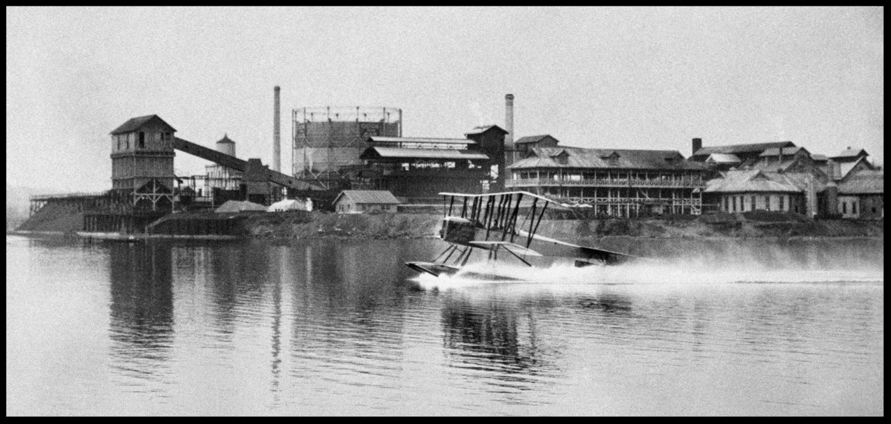 The B&W was the first Boeing product, named after designers William Boeing and Navy Lt. George Conrad Westervelt. The first B&W, completed in June 1916, was made of wood, linen and wire. Similar to the Martin trainer that Boeing owned, the B&W had, among other improvements, better pontoons and a more powerful engine. The two B&Ws were offered to the U.S. Navy. When the Navy did not buy them, they were sold to the New Zealand Flying School and became the company's first international sale. The B&Ws later were used for New Zealand express and airmail deliveries, set a New Zealand altitude record of 6,500 feet on June 25, 1919, and made that country's first official airmail flight on Dec. 16, 1919. (Boeing Co.).    More here...