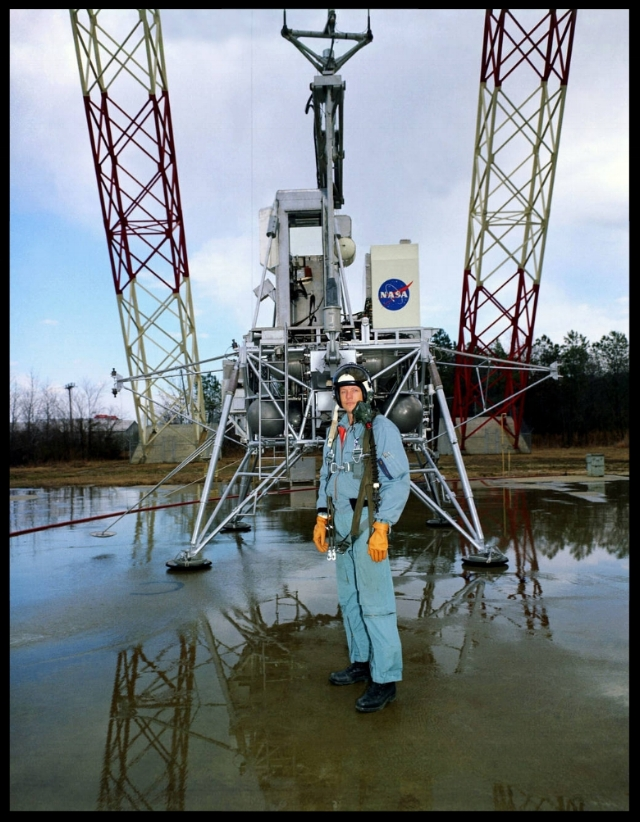 Armstrong at Langley Research Center. Image- NASA