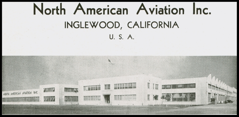 North American Aviation factory in Inglewood, CA.