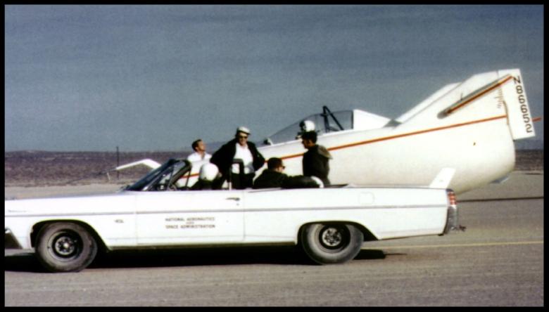 M2-F1 with towing car. Image- NASA
