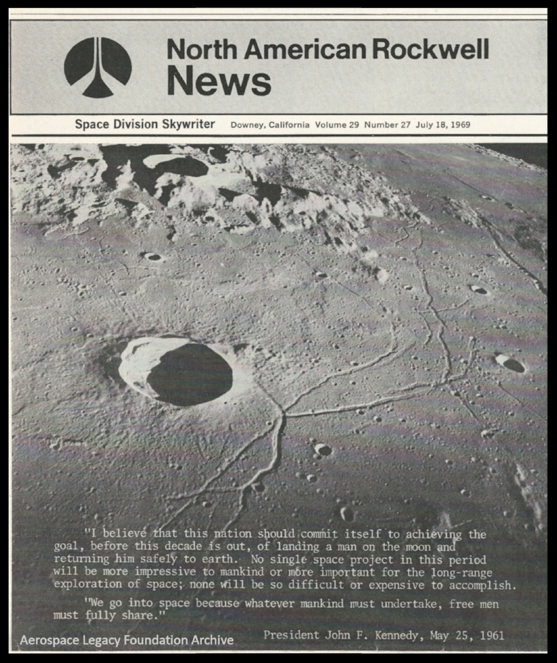 North American Aviation Space Division Skywriter, July 18, 1969.   For more click here.