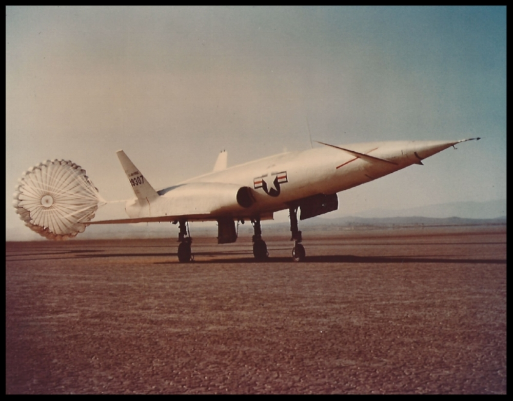 Navaho X-10 with chute deployed. mage- Boeing and ALF Archive