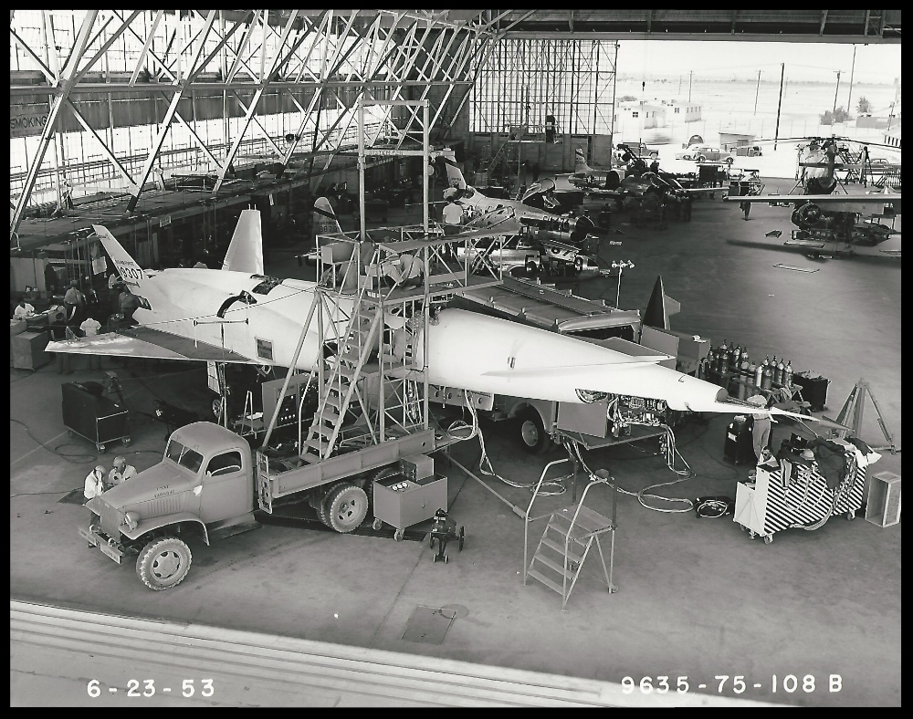 Navaho X-10, 6-23-1953. Courtesy- Boeing Management Association.  ALF Archive Image.
