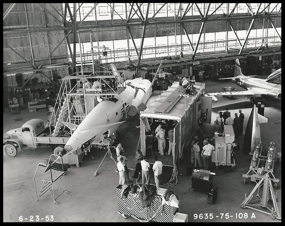 Navaho X-10, 1953. Image Courtesy- Boeing Management Association.  ALF Archive Image.